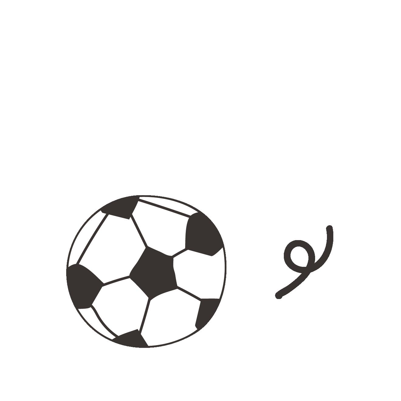 サッカーボールの手描き風タッチの 無料 イラストスポーツ 商用