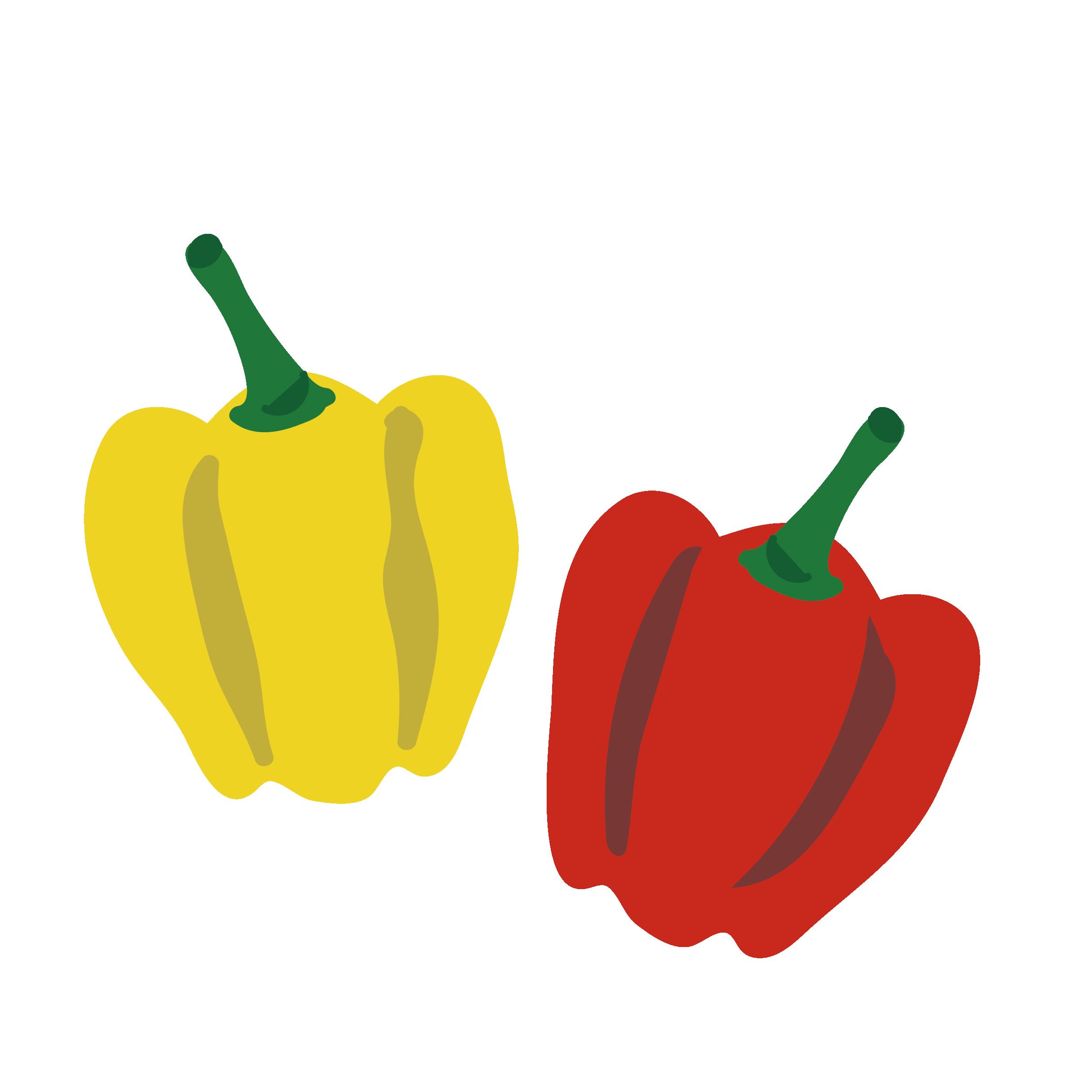 パプリカ 赤ピーマン 黄色ピーマン のイラスト 野菜 商用フリー 無料 のイラスト素材なら イラストマンション