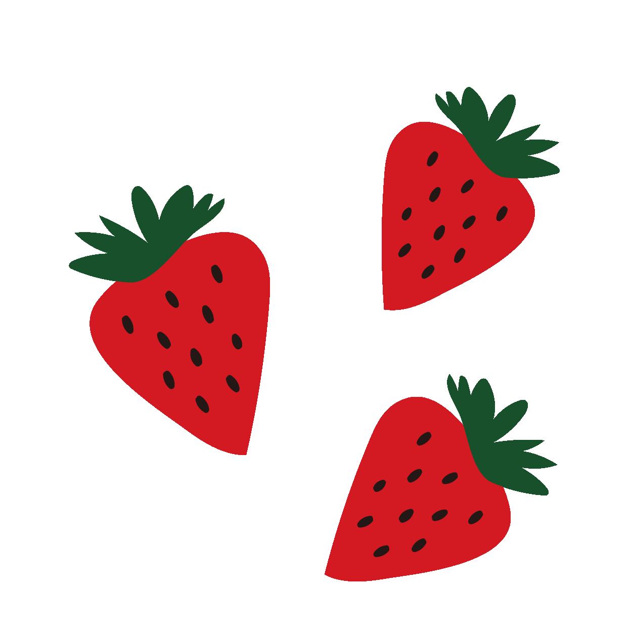 苺(イチゴ・いちご)のイラスト【フルーツ・果物】 | 商用フリー(無料