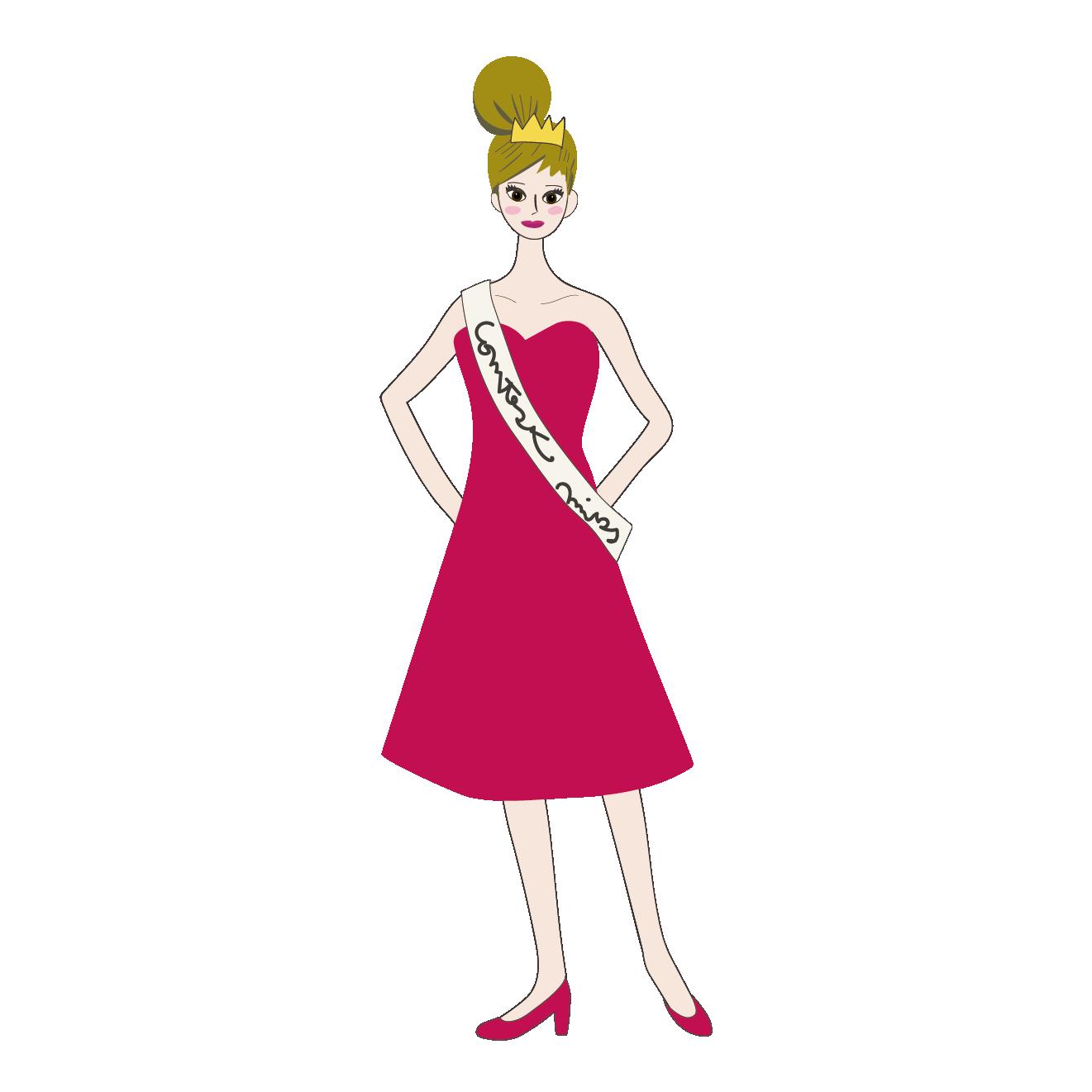 ミスコンに出場する女性【ブロガー】ファッション・話題   商用フリー