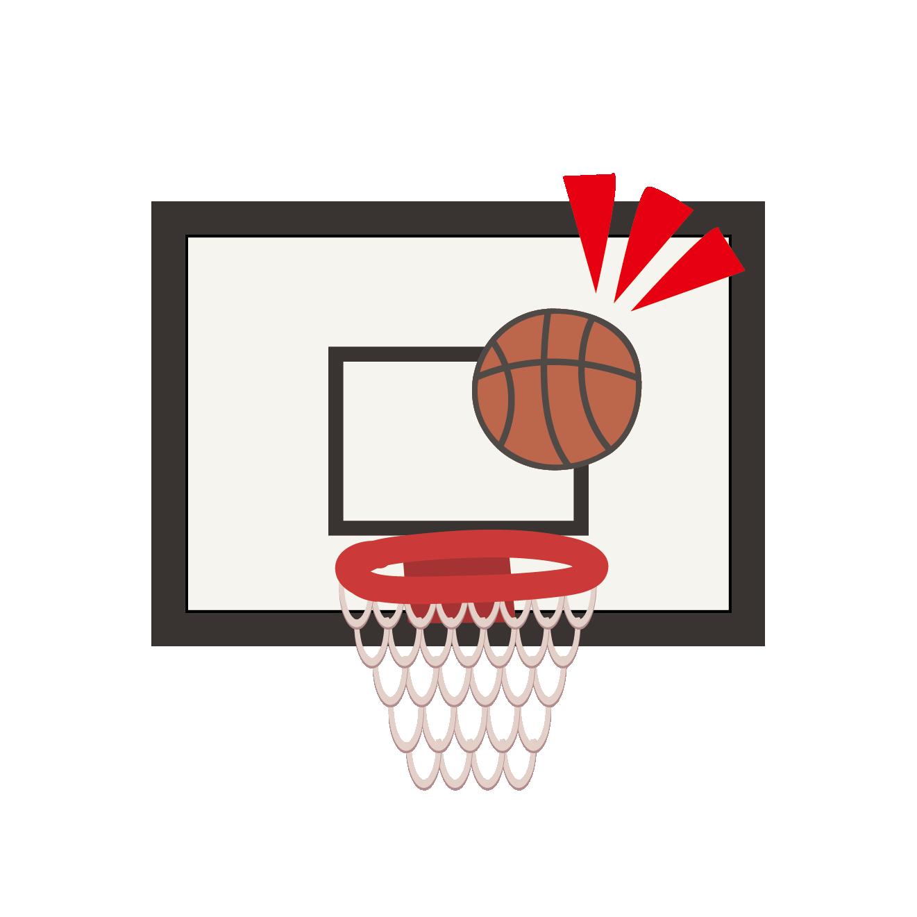 バスケバスケットボールでゴールシュート イラストスポーツ