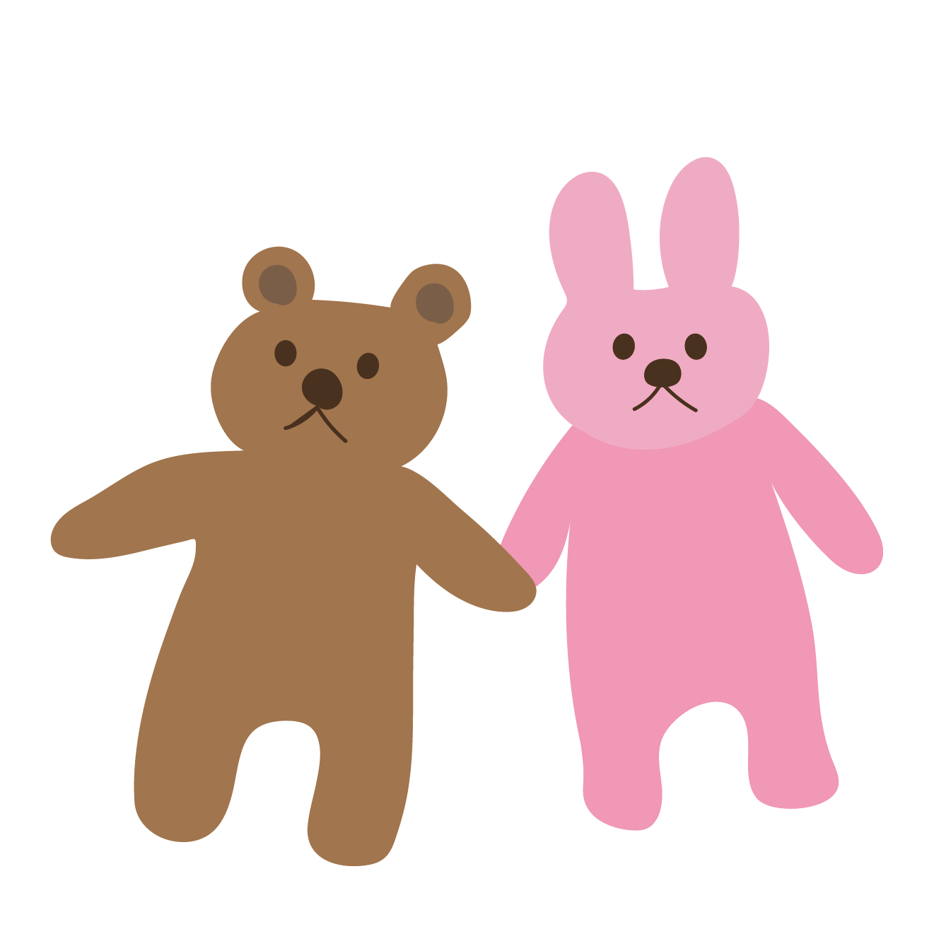 熊(くま・クマ・テディベア)とうさぎ(ウサギ)のぬいぐるみの