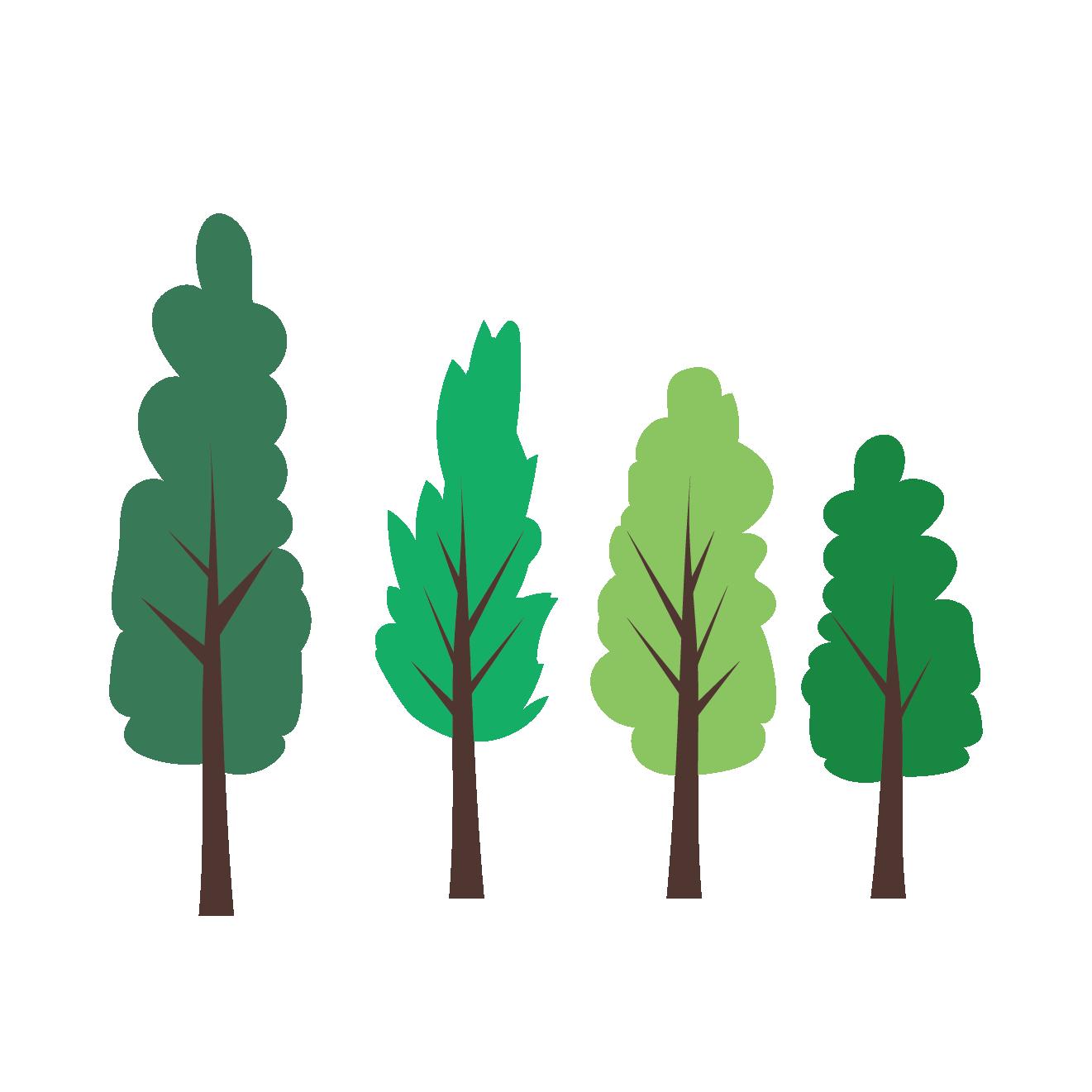 新緑木のイラスト植物グリーン 商用フリー無料のイラスト