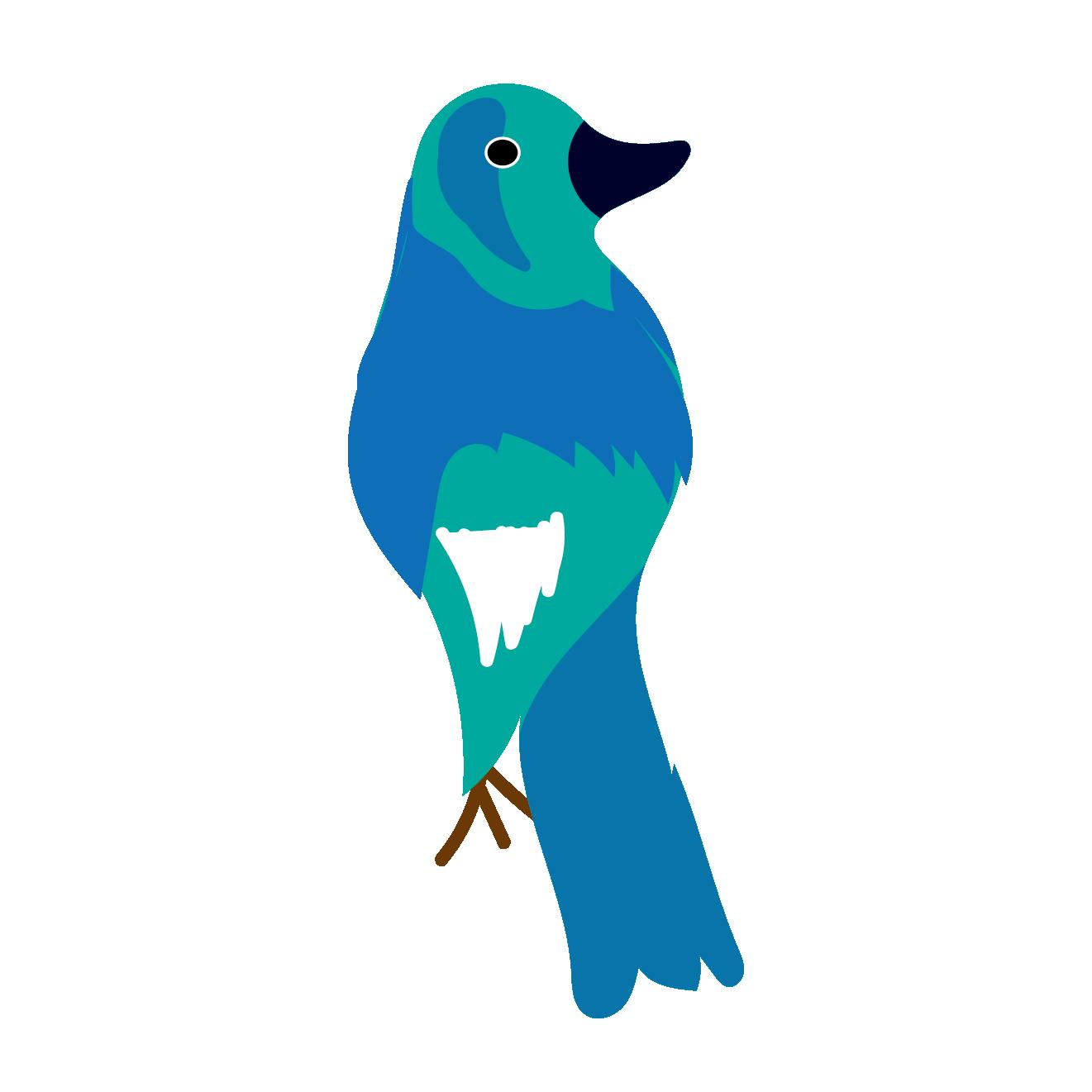 かわいい鳥バードのイラスト 年賀状ワンポイントイラスト酉年