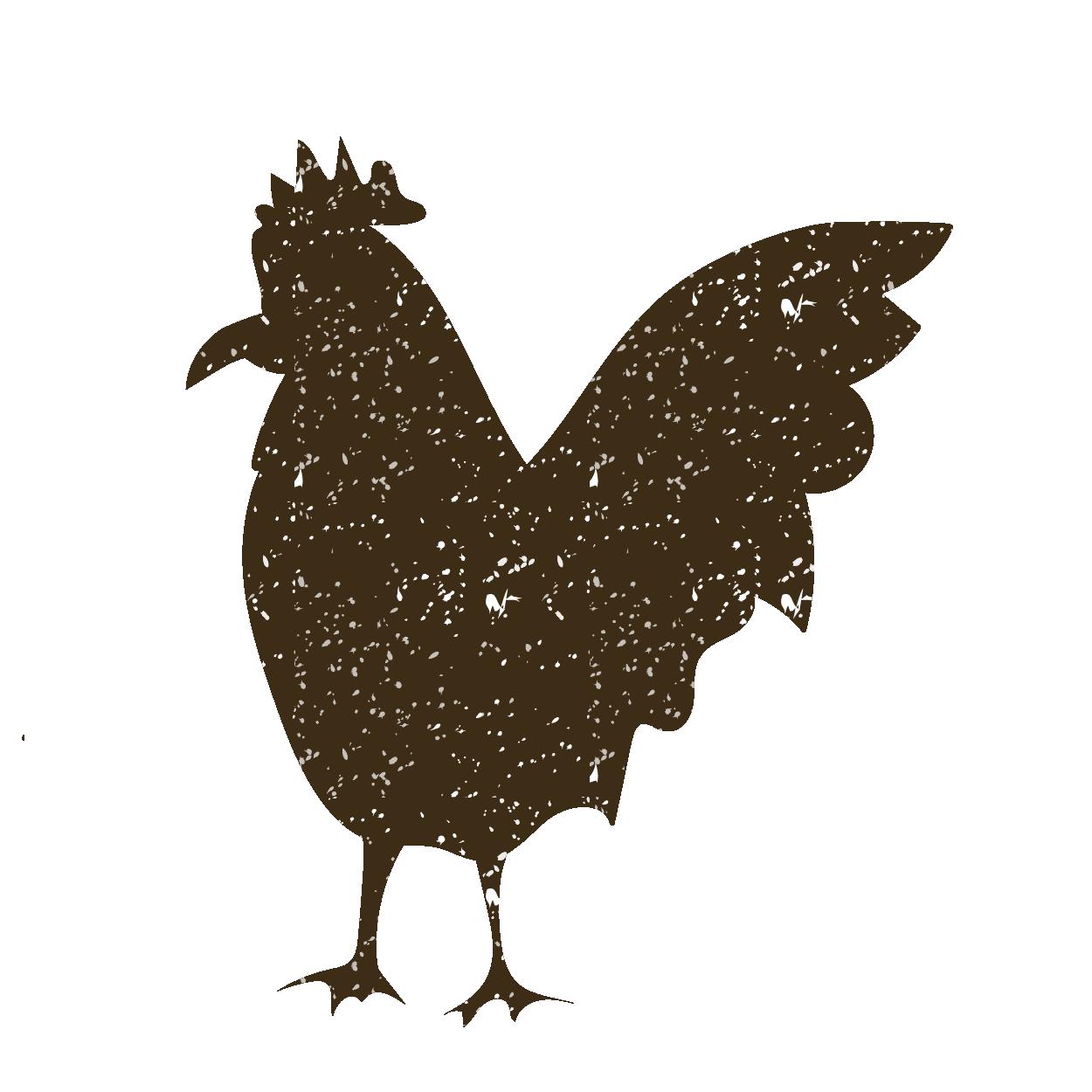 鶏ニワトリにわとりのスタンプ イラスト動物 商用フリー