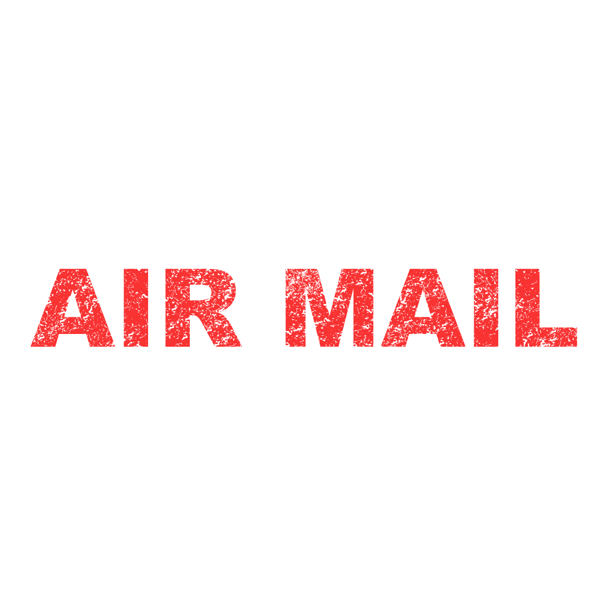 海外郵便用 air mail(エアメール)シンプル スタンプのイラスト