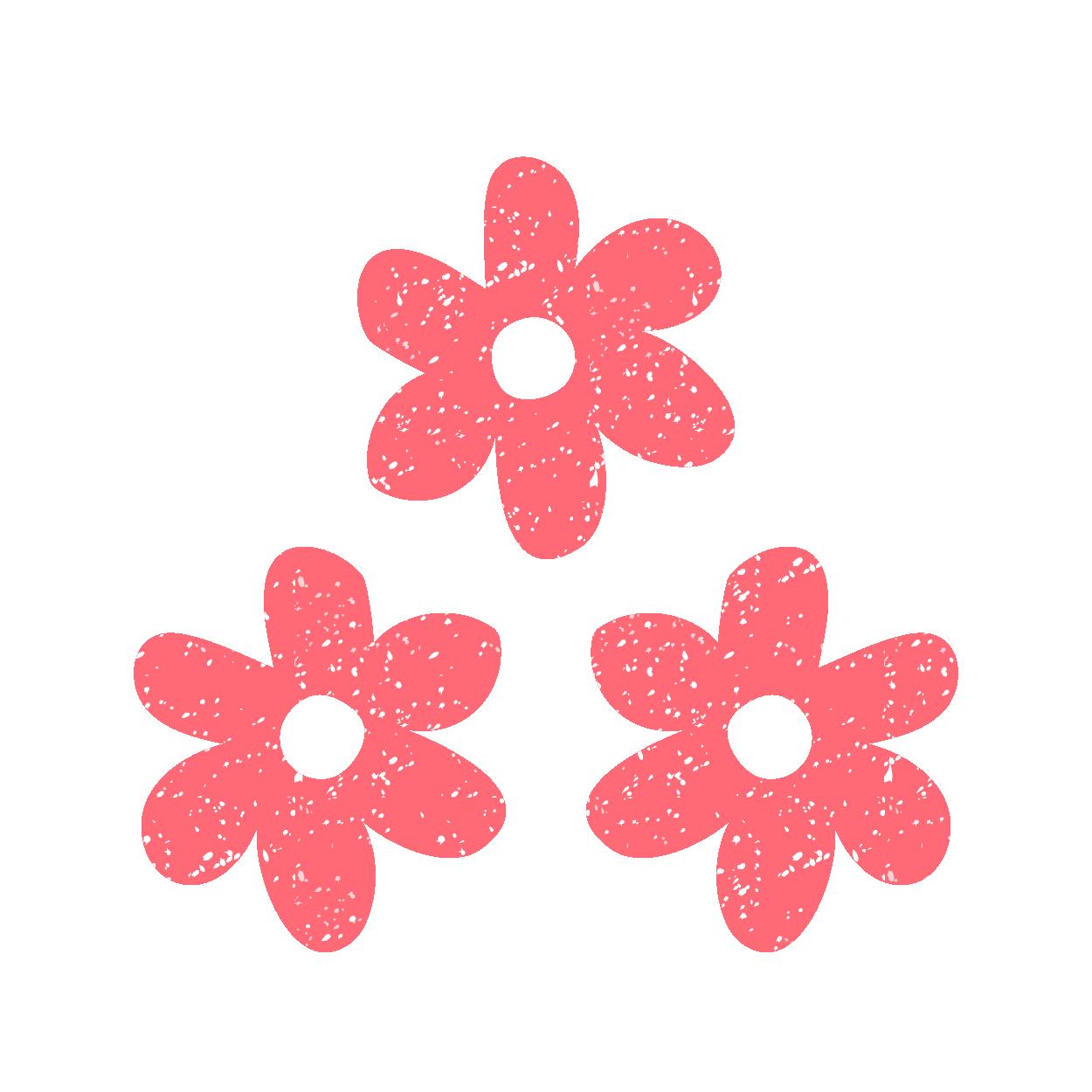 カワイイピンクのお花のスタンプ イラスト | 商用フリー(無料)のイラスト