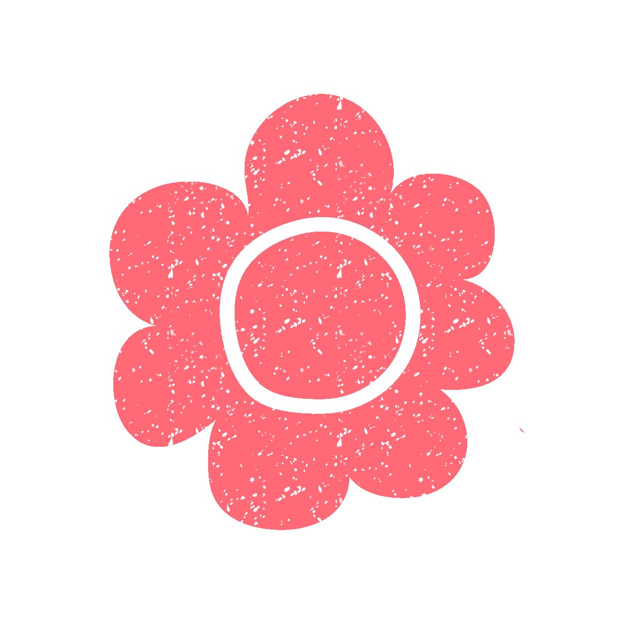 手書き風 花のワンポイントスタンプ イラスト | 商用フリー(無料)の