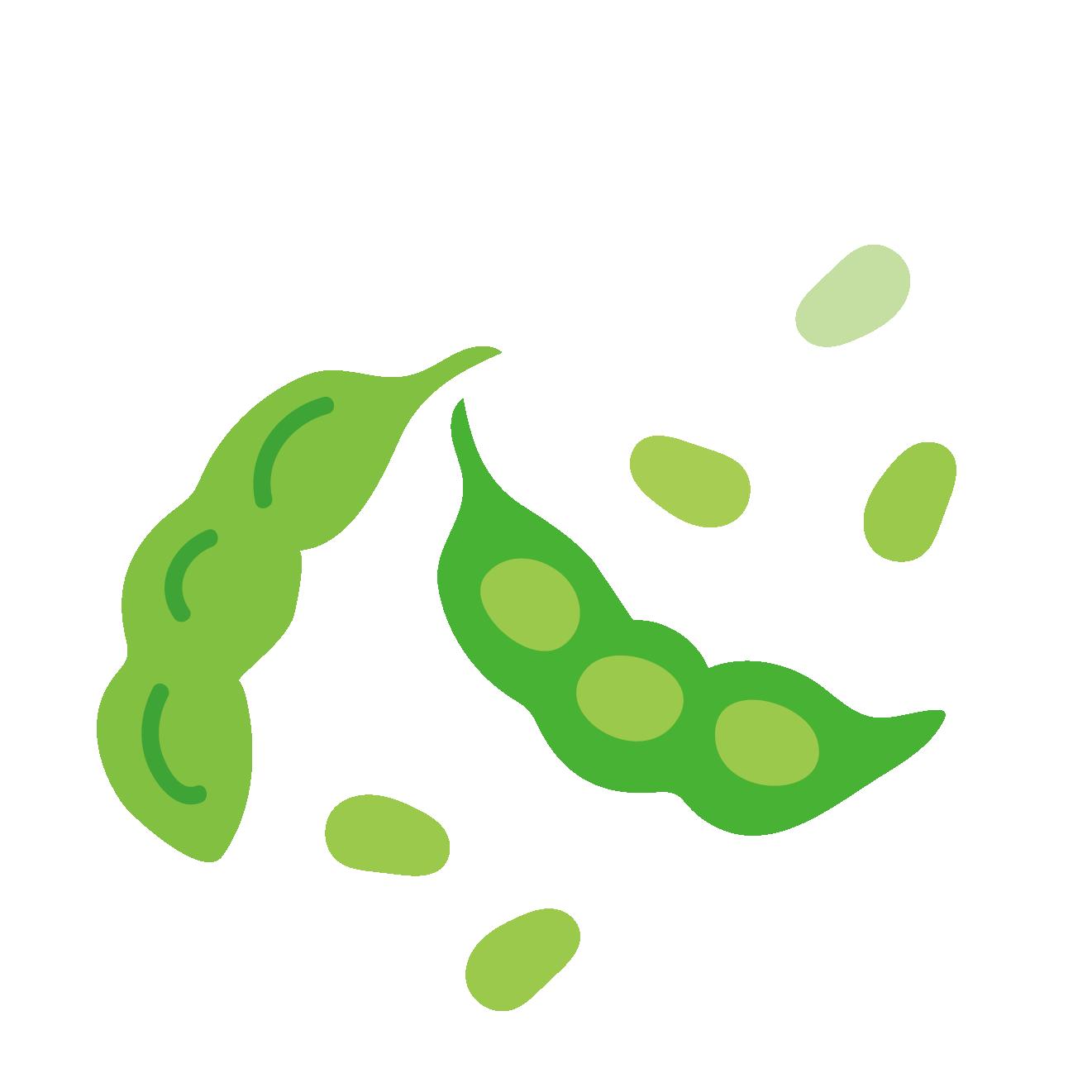 枝豆(えだ豆・エダマメ)おつまみ 野菜のイラスト | 商用フリー(無料
