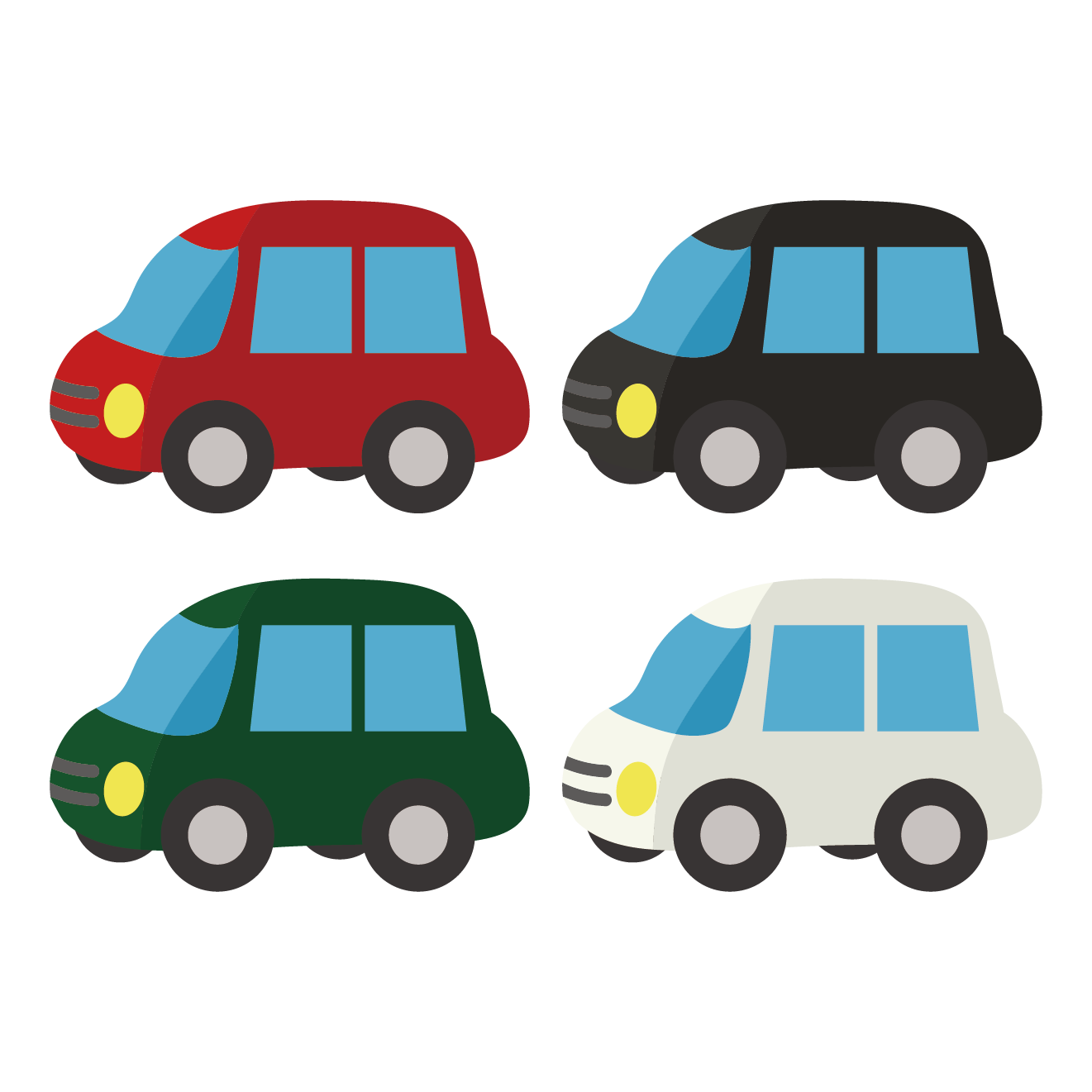 新車!?乗用車(車・自動車)のイラスト | 商用フリー(無料)の