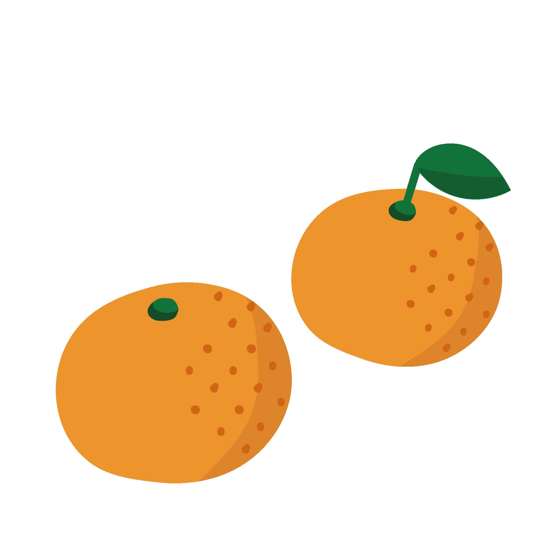 甘い みかんのイラスト冬の果物フルーツ 商用フリー無料の