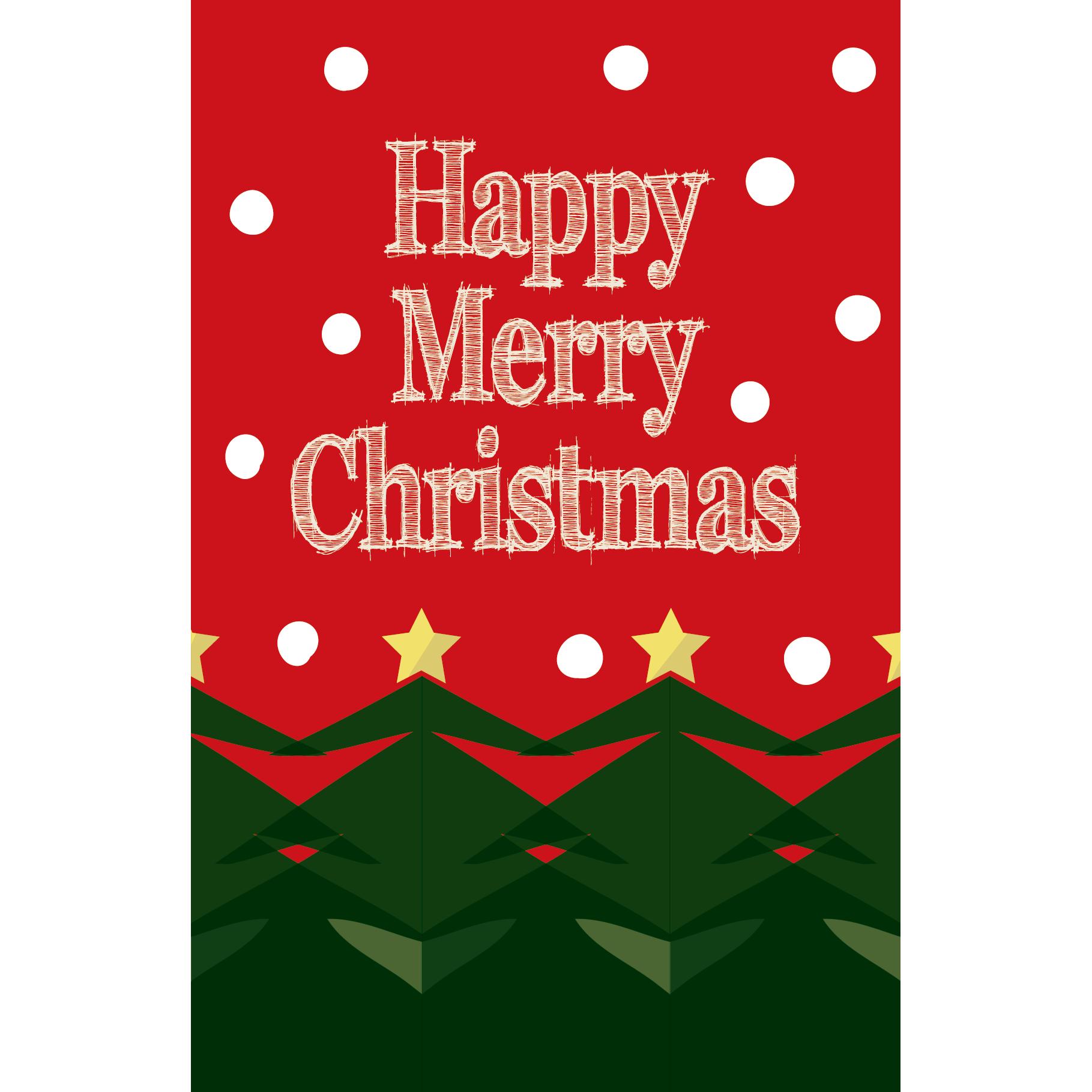おしゃれなクリスマスカードのテンプレートイラスト!【グリーティング