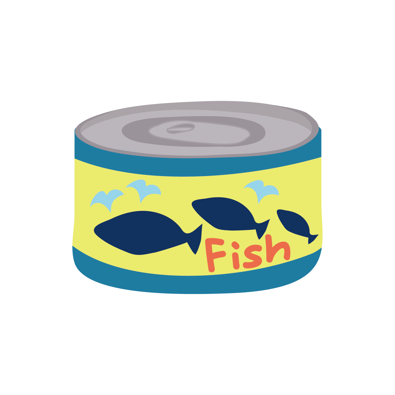 魚ツナの缶詰保存食非常食おつまみのイラスト 商用フリー
