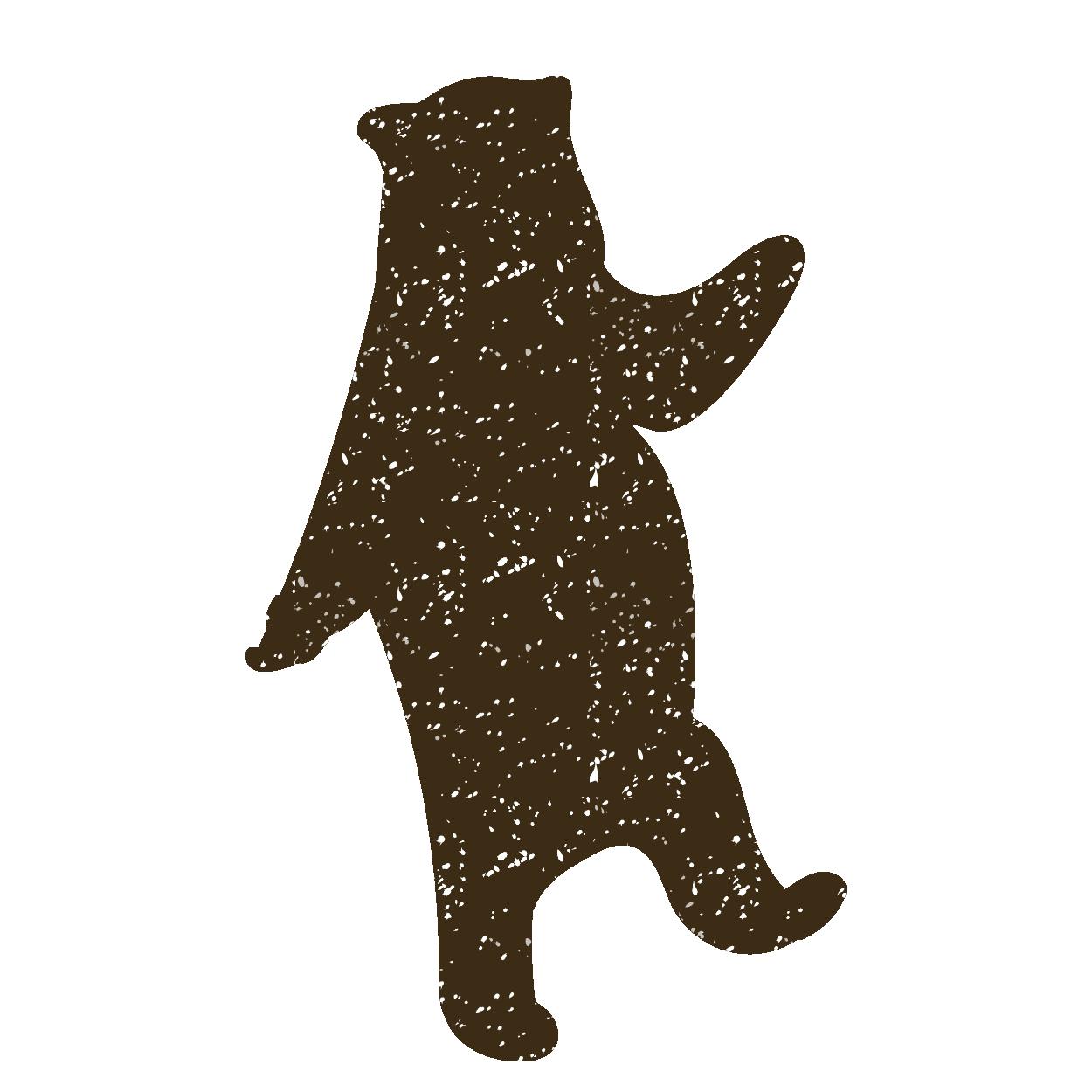 熊(クマ・くま)のスタンプ イラスト【動物】 | 商用フリー(無料)の