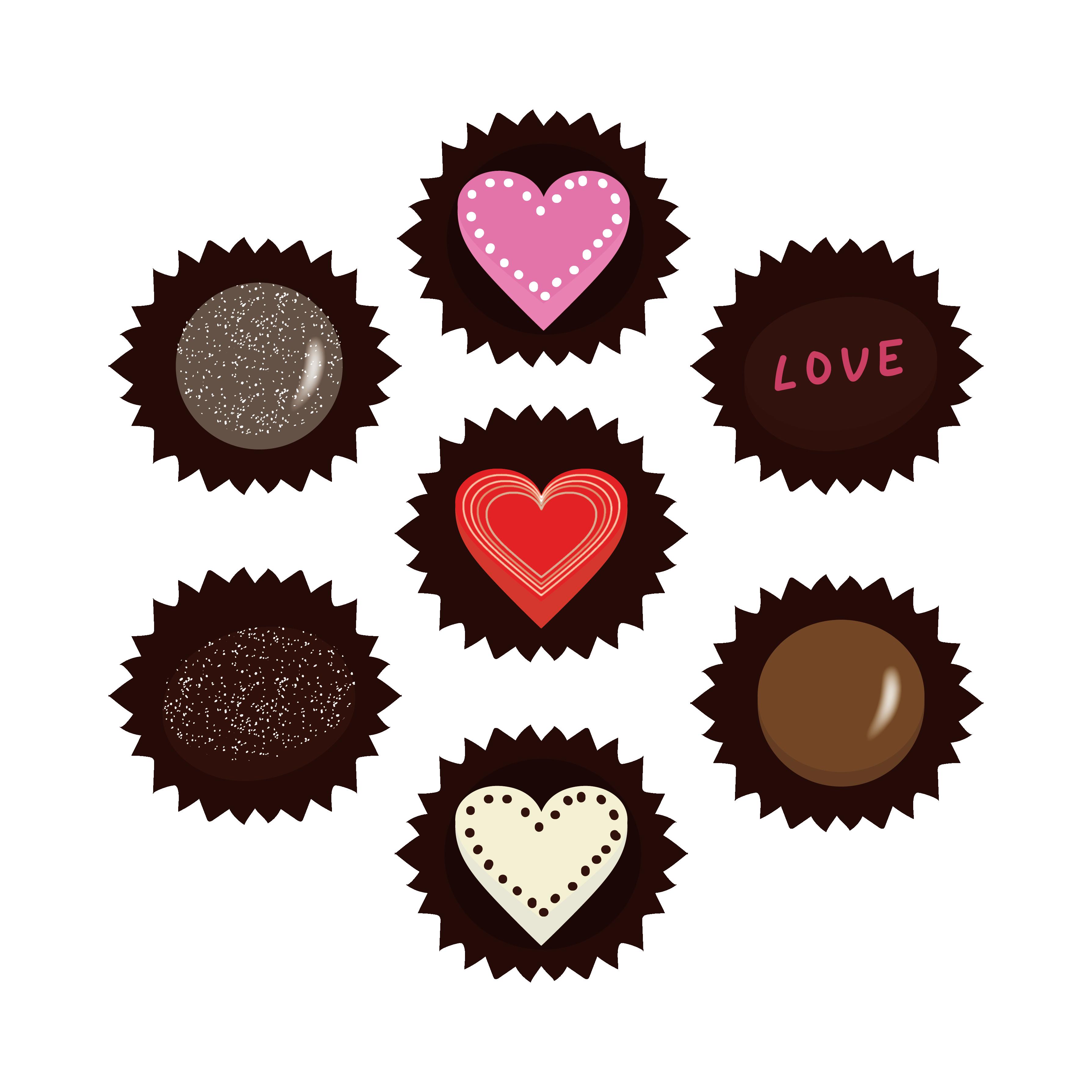 バレンタインデー チョコレート イラスト!
