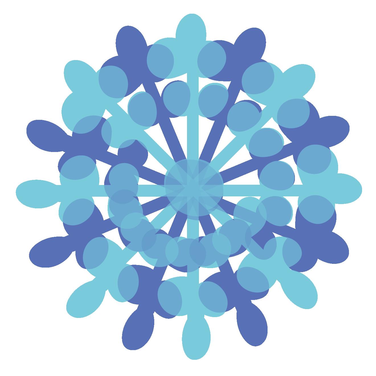 冬綺麗な雪の結晶 無料 イラスト 商用フリー無料のイラスト素材