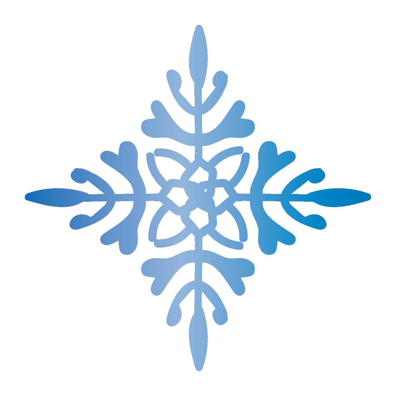 冬!お花模様のような雪の結晶 フリー イラスト!
