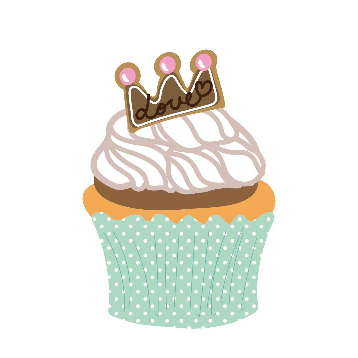 クリームがのったカップケーキスイーツお菓子 商用フリー無料