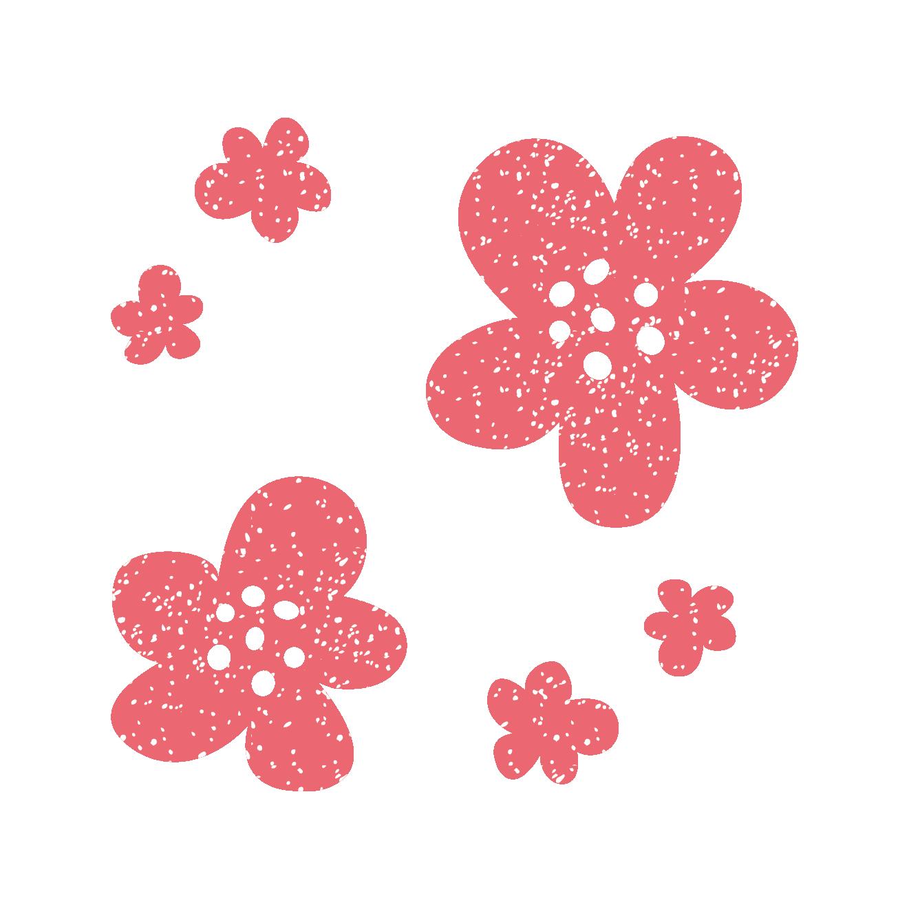 かわいいお花のスタンプ イラスト | 商用フリー(無料)のイラスト素材なら