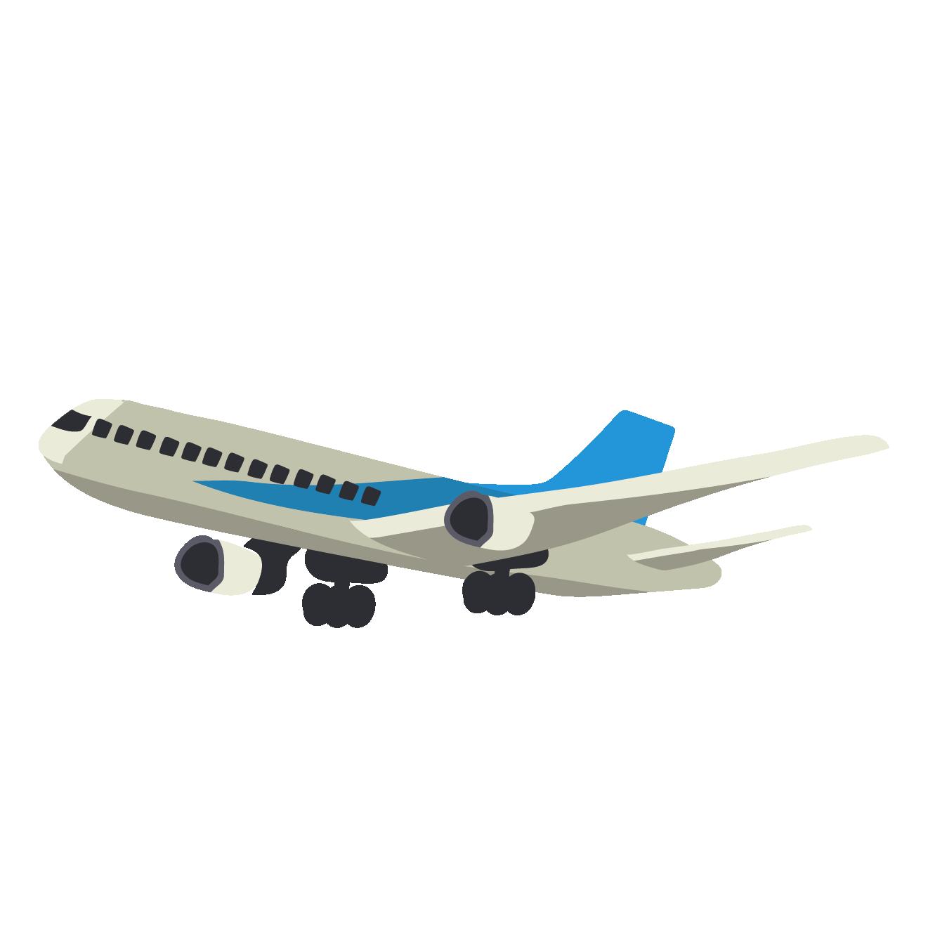 空飛ぶ飛行機のイラスト 商用フリー無料のイラスト素材なら