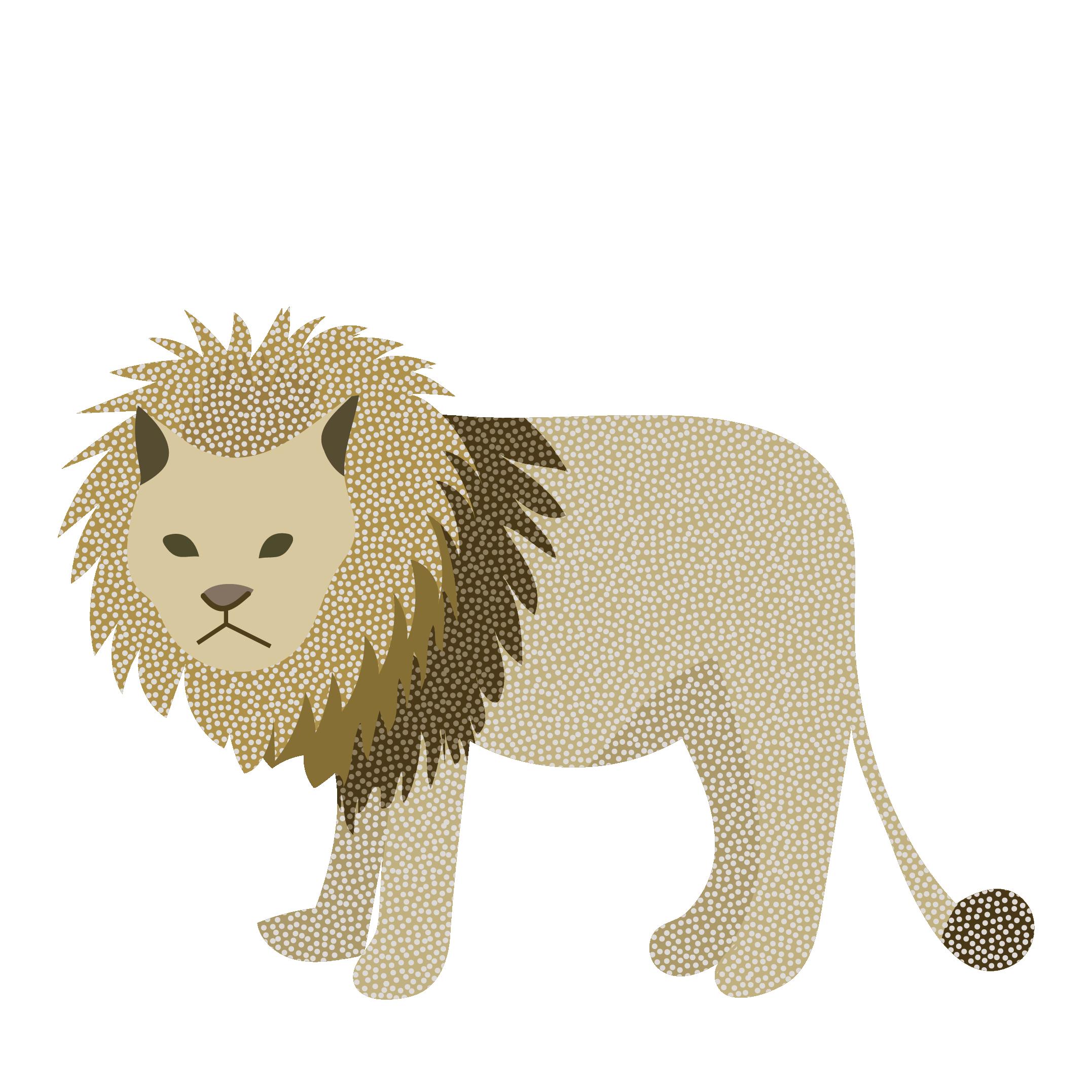 オシャレなライオン(らいおん)のイラスト 【動物】 | 商用フリー(無料