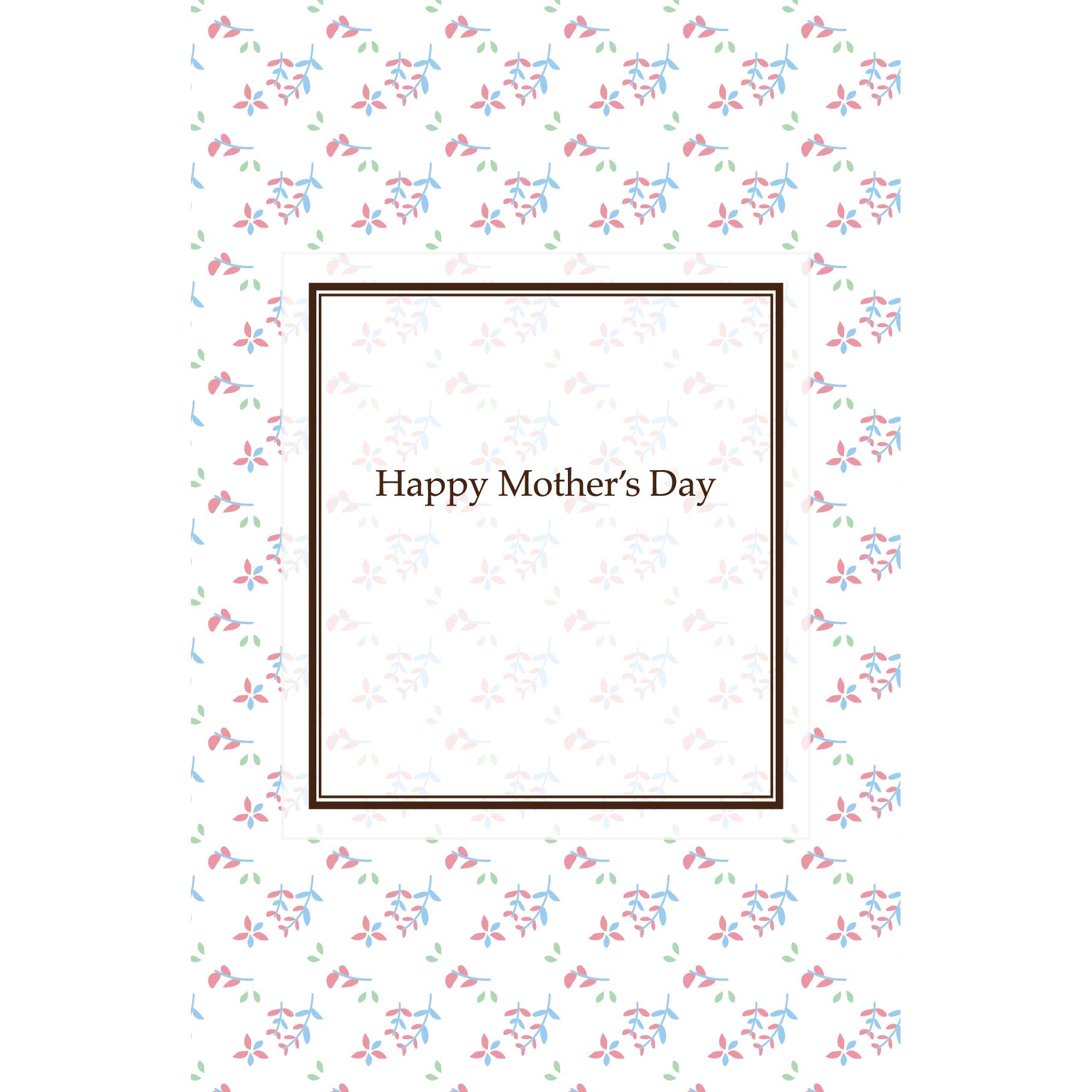 母の日のメッセージ!グリーティングカード 小花の 無料 イラスト