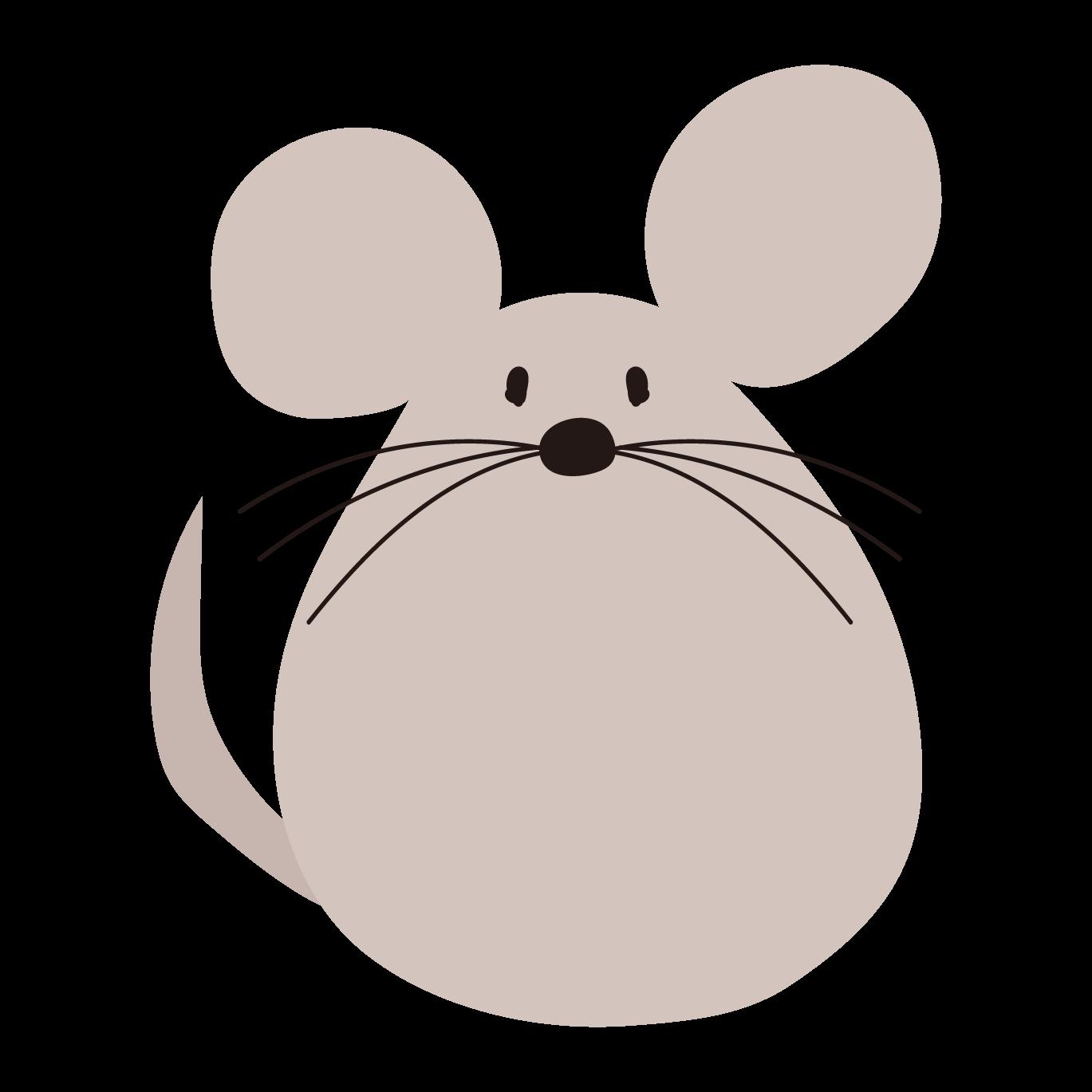 ネズミ(鼠,ねずみ)の かわいい♪ 無料 イラスト