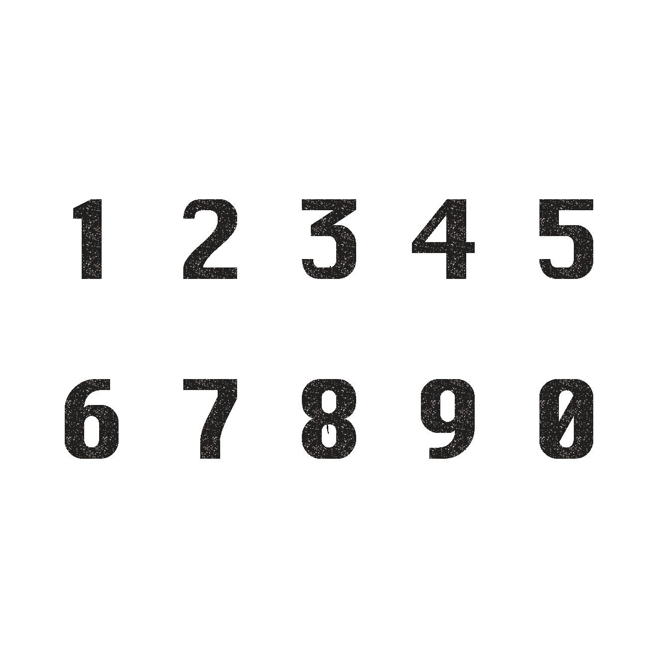 オシャレでカッコイイ数字のスタンプ イラスト   商用フリー(無料)の