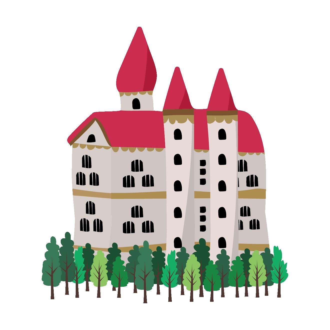 お城 イラスト 西洋ヨーロッパ風 商用フリー無料のイラスト素材