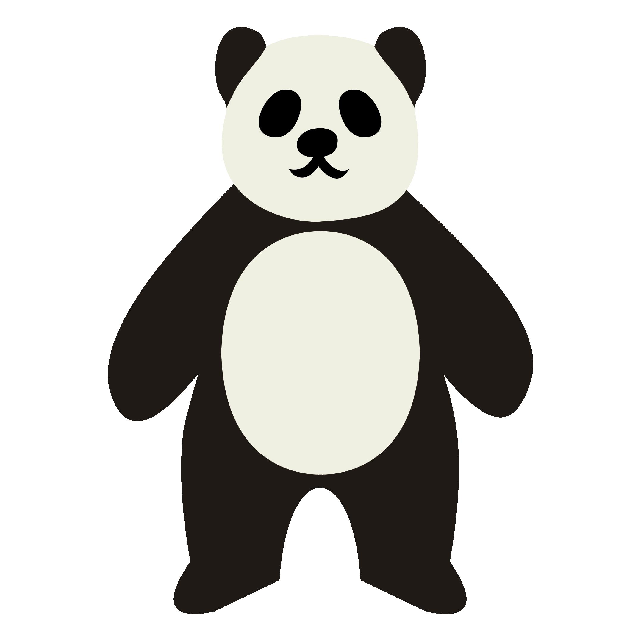 かわいい!パンダ かっこいい!? 無料 イラスト 全身ポーズ♪