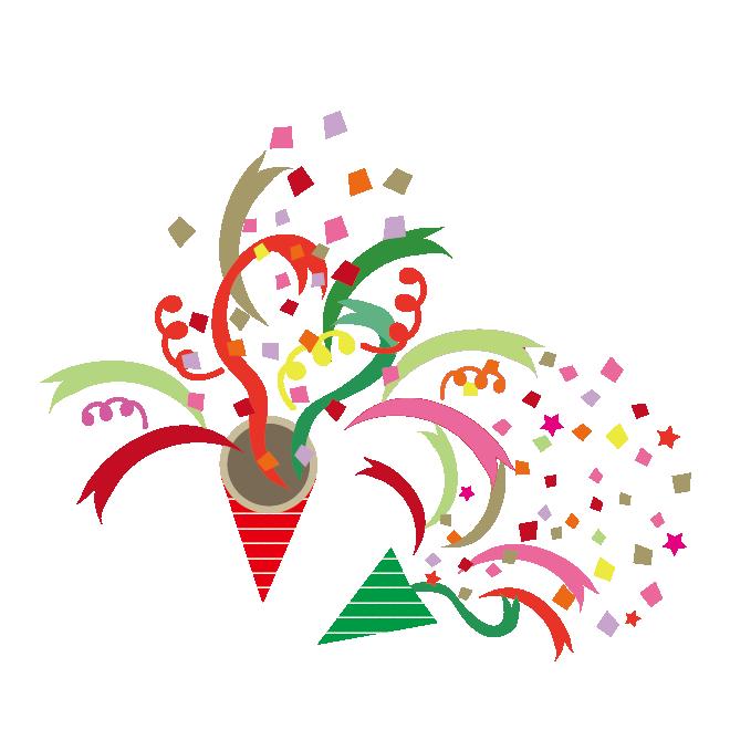 メリー!クリスマス♪クラッカーの かわいい  無 料 イラスト(png)