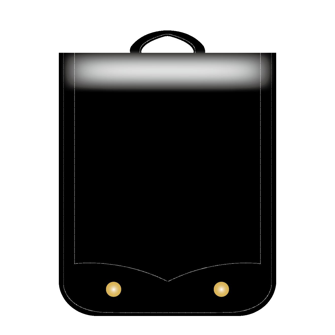 おすすめ!ランドセルの フリーイラスト!黒(ブラック)