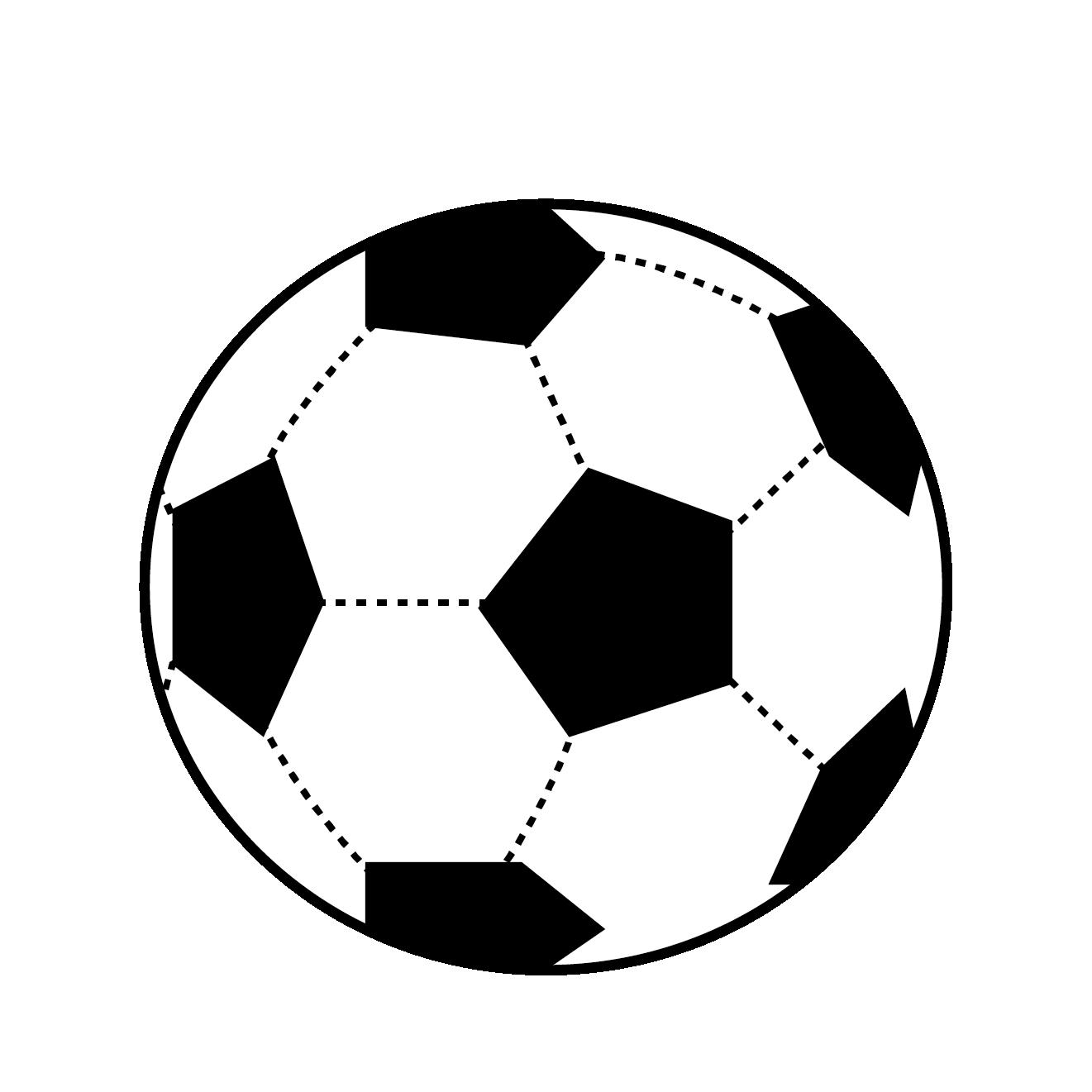 サッカー ボールの イラスト【スポーツ】