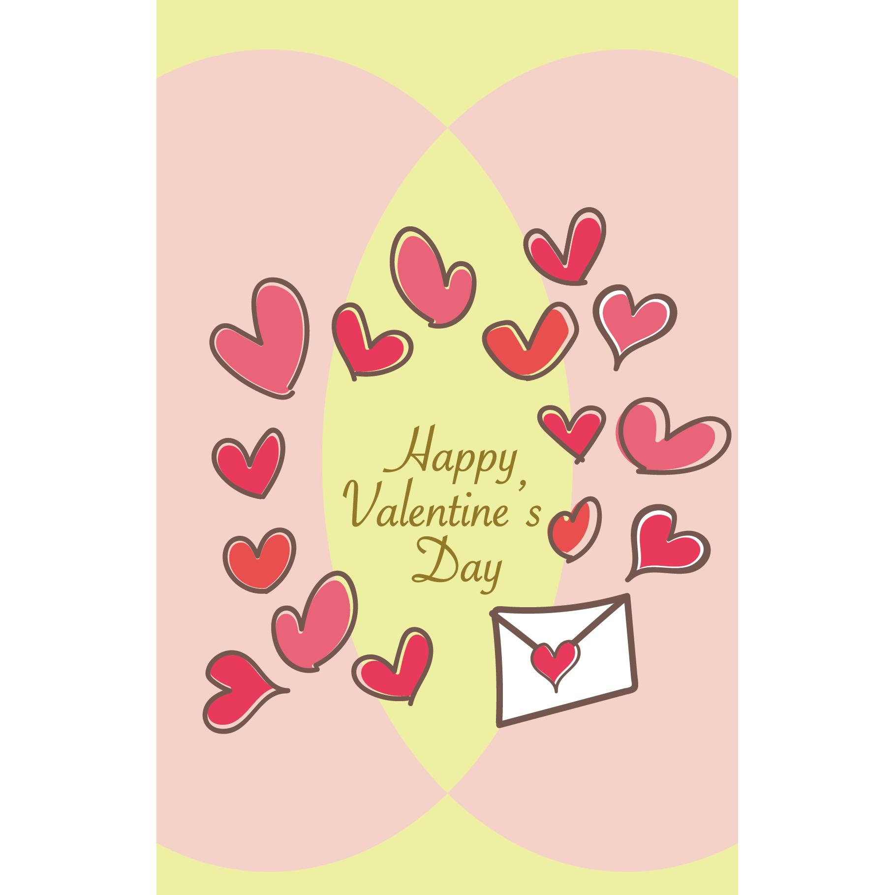 バレンタイン カード 無料 イラスト♪ハートがいっぱい
