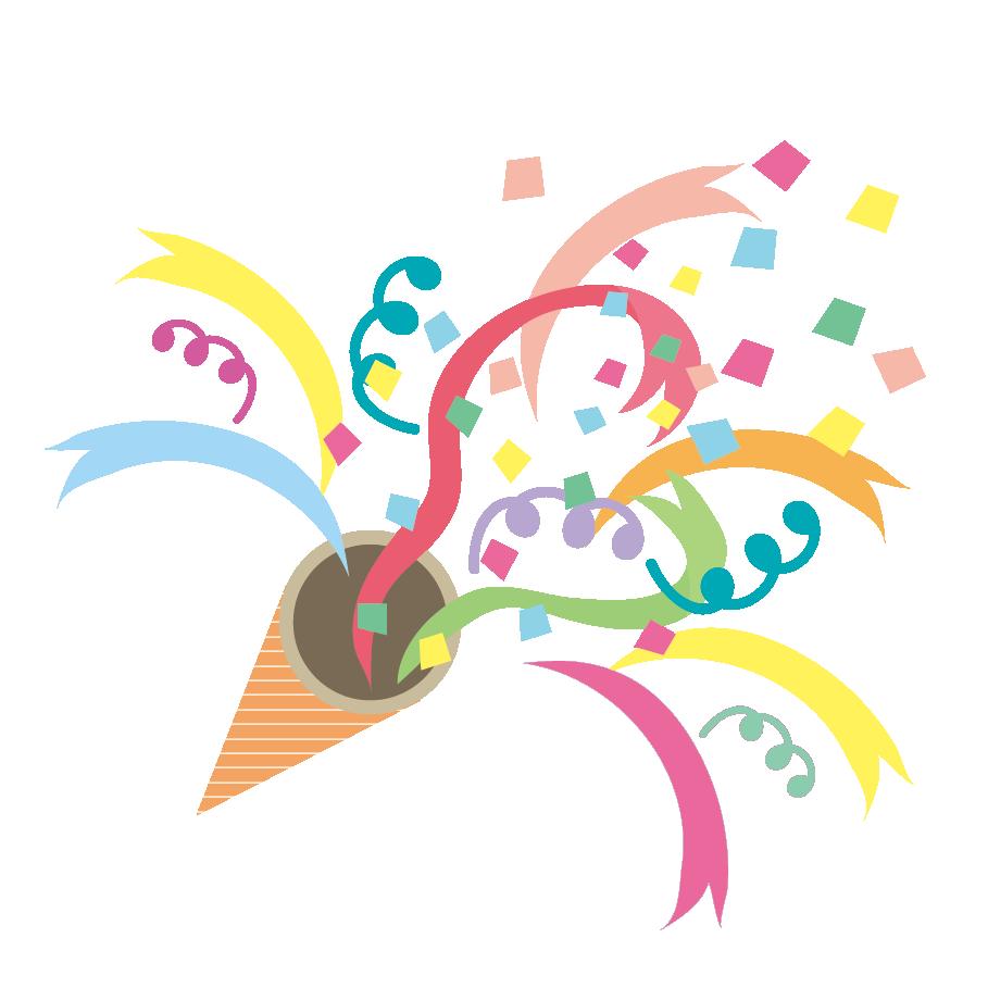 かわいい♪ パーティーに! クラッカー(png) イラスト | 商用フリー