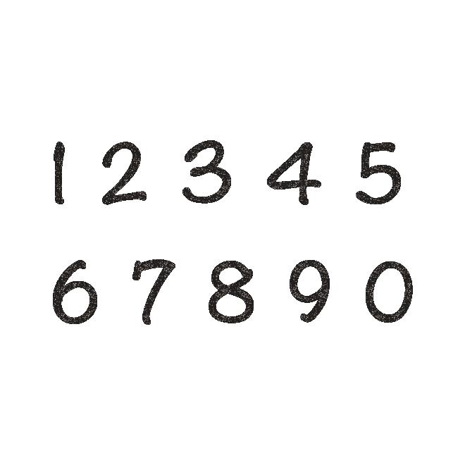 オシャレでかわいい数字のスタンプ イラスト