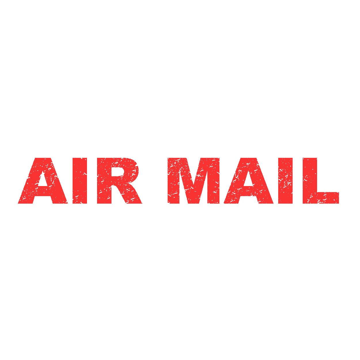 海外郵便用 air mail(エアメール)シンプル スタンプのイラスト | 商用