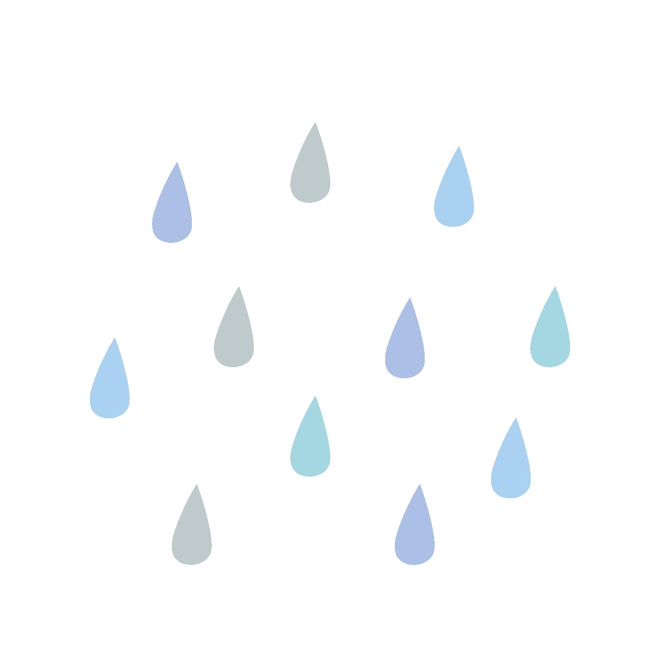かわいい!梅雨の日の 雨つぶ の フリー イラスト