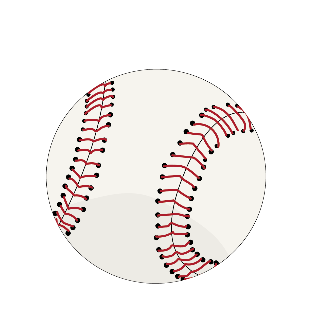 野球(ベースボール)のボール 無料 イラスト【スポーツ】