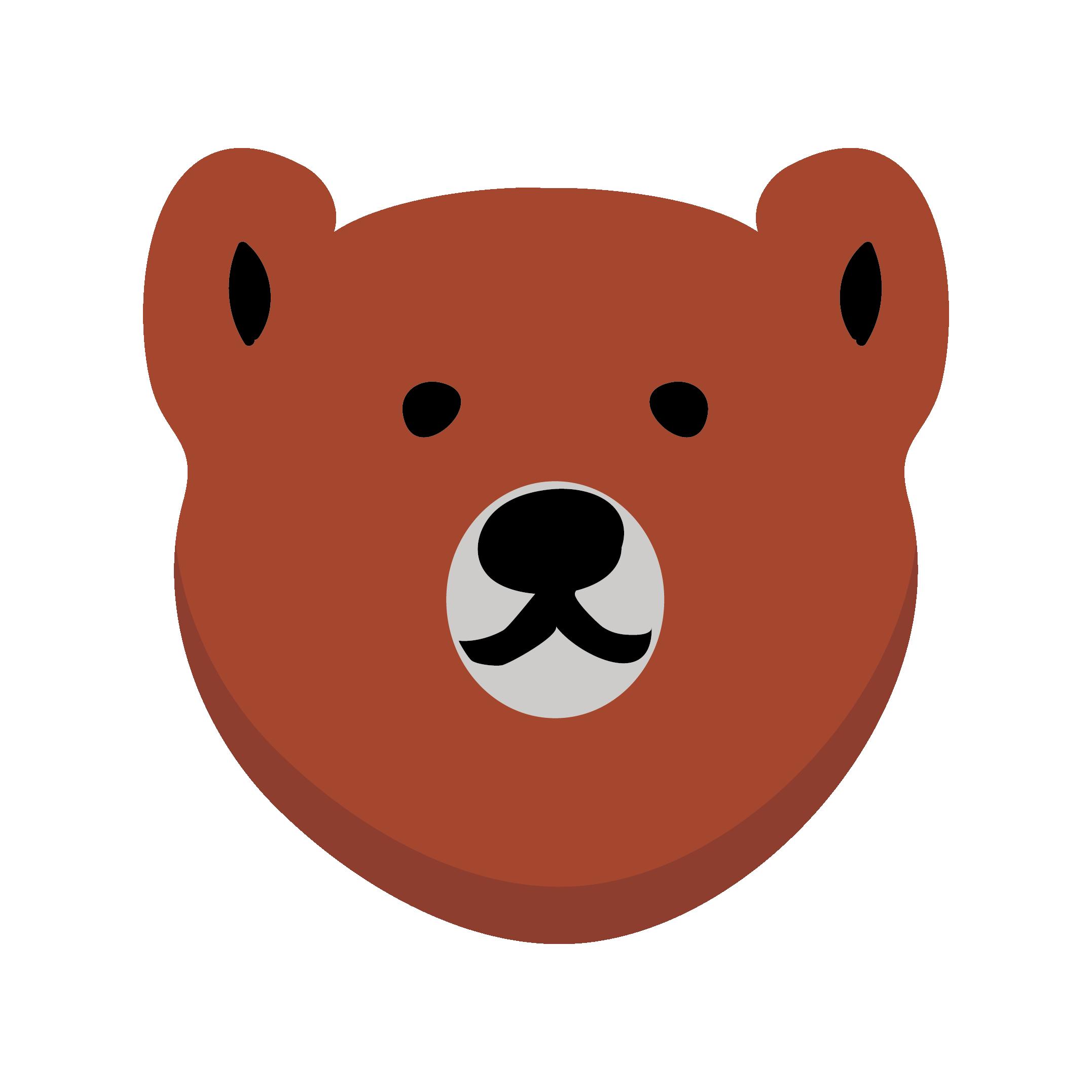 かわいい!くま(熊・クマ) 無料 イラスト(ブラウンベア)