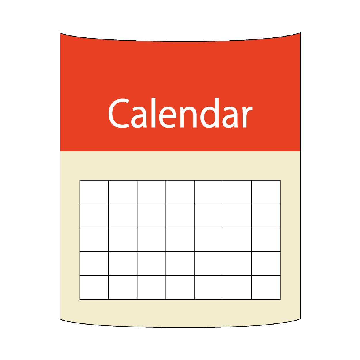 シンプルな カレンダー の おすすめ 無料 イラスト