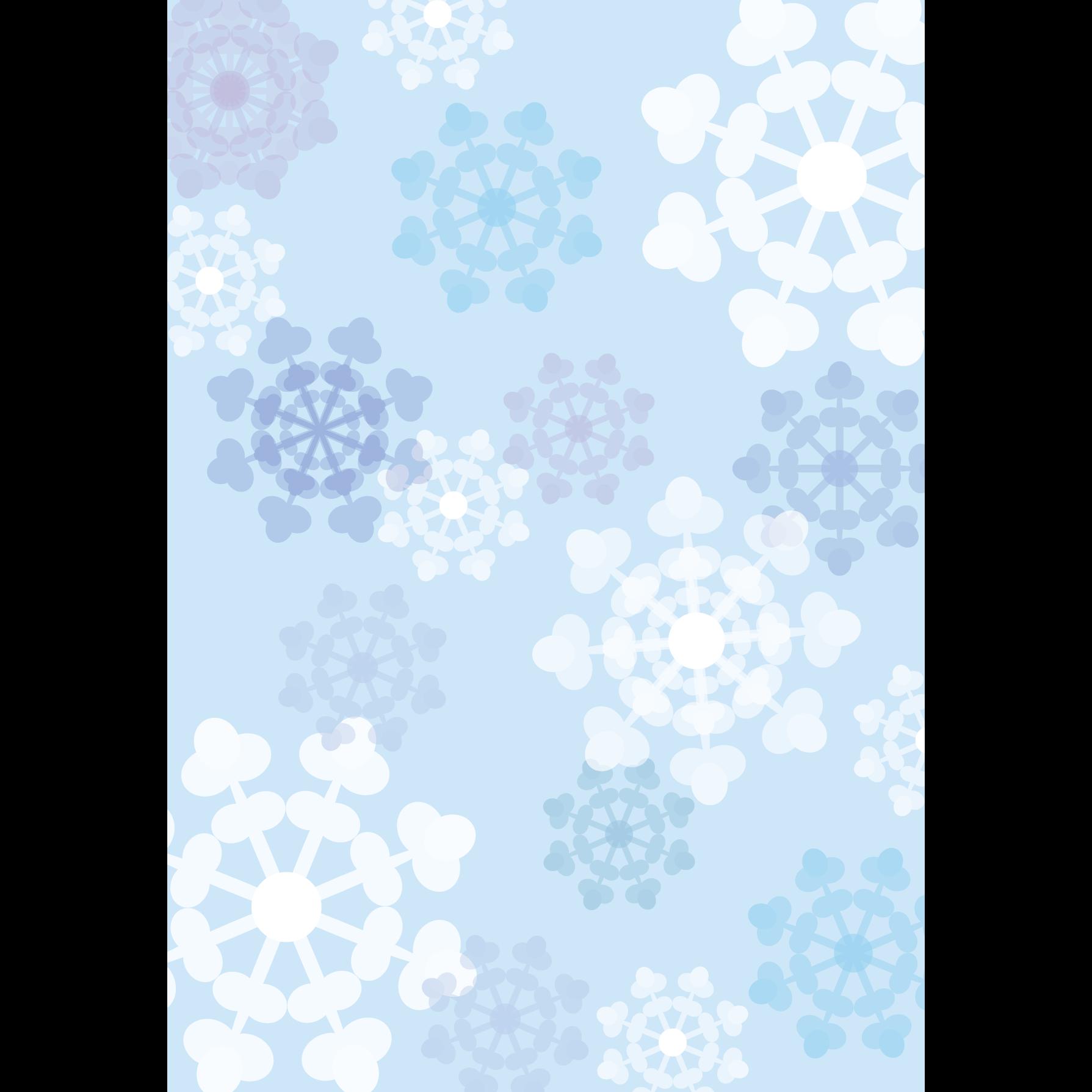 かわいい♪雪の結晶の背景(デザイン素材)a4 フリーイラスト | 商用