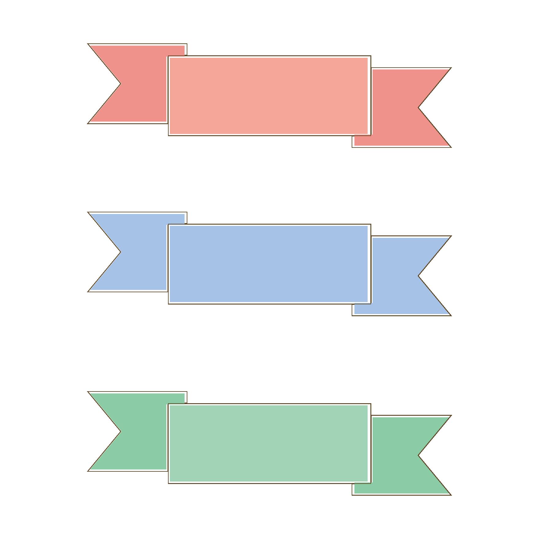 かわいい♪ネームフレーム(赤、青、緑)のデザインイラスト | 商用