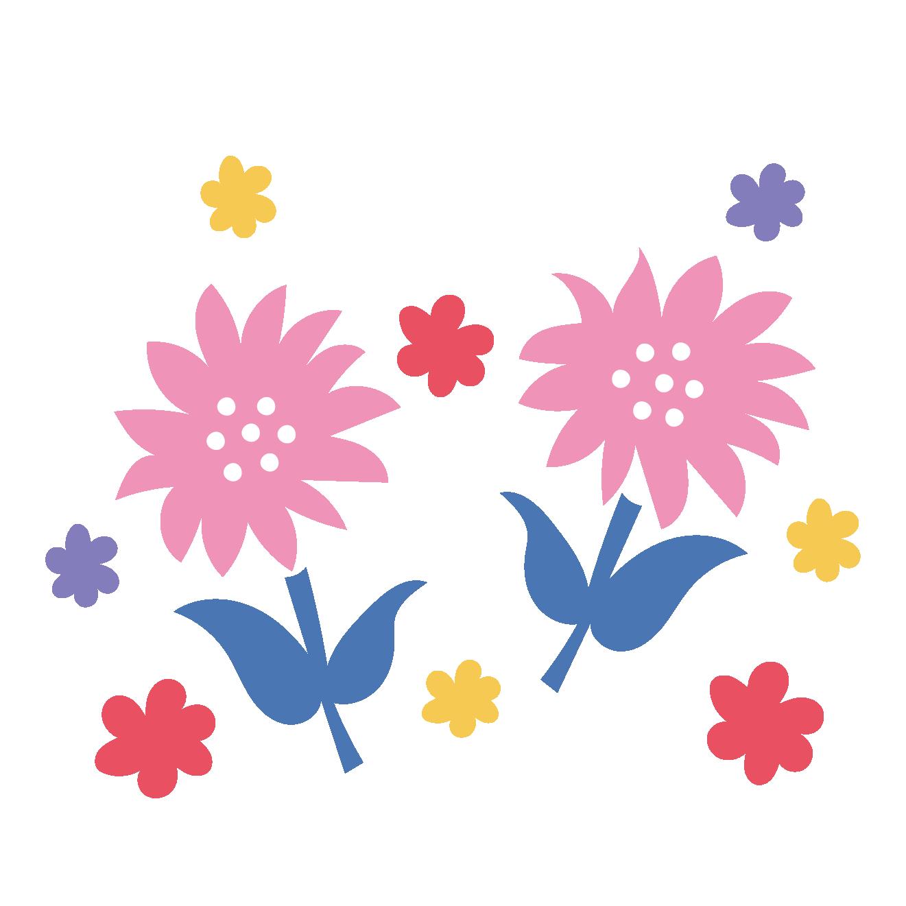 かわいい♪お花のワンポイントデザイン イラスト | 商用フリー(無料)の