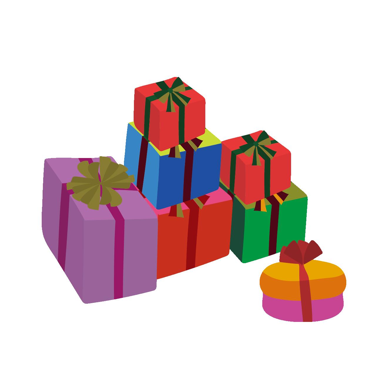 プレゼント(ギフト)の 無料 イラスト【クリスマス】