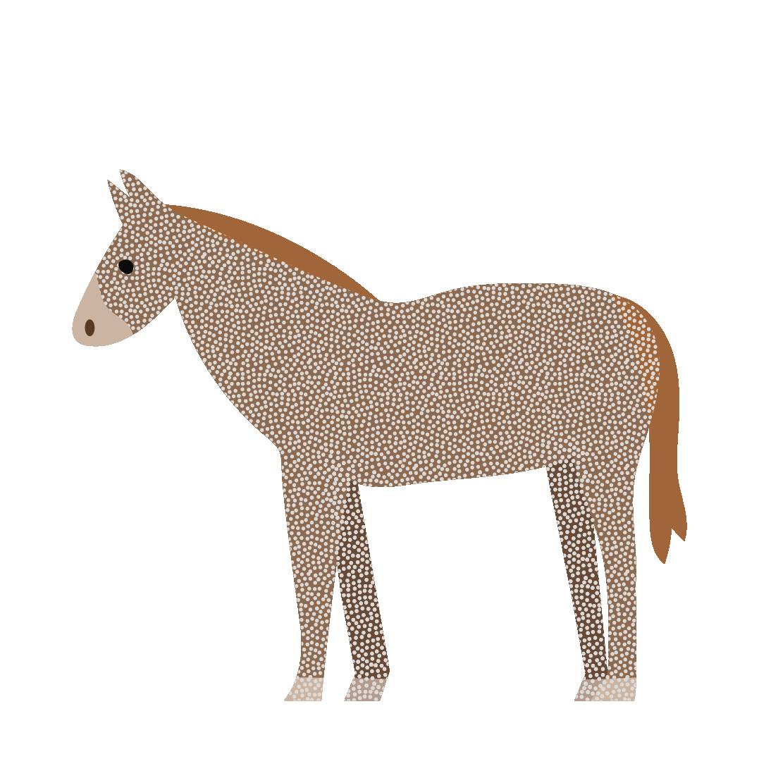 オシャレな馬(ウマ)のイラスト   商用フリー(無料)のイラスト素材