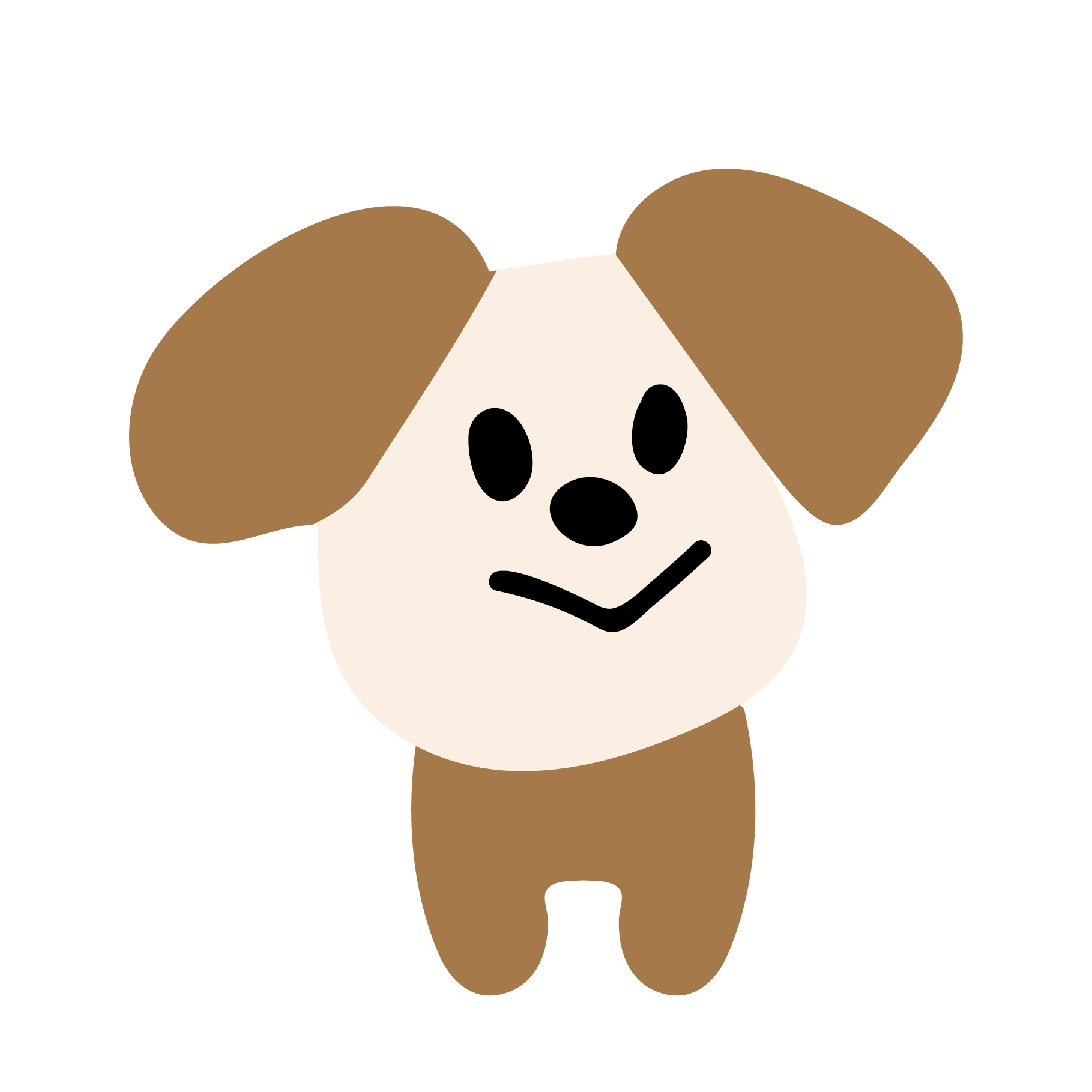 ゆるい!かわいい!犬(いぬ・イヌ)のイラスト | 商用フリー(無料)の