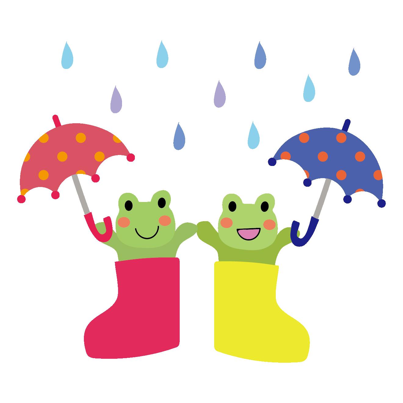 かわいい♪長靴に入ったカエル(蛙)のイラスト【梅雨】