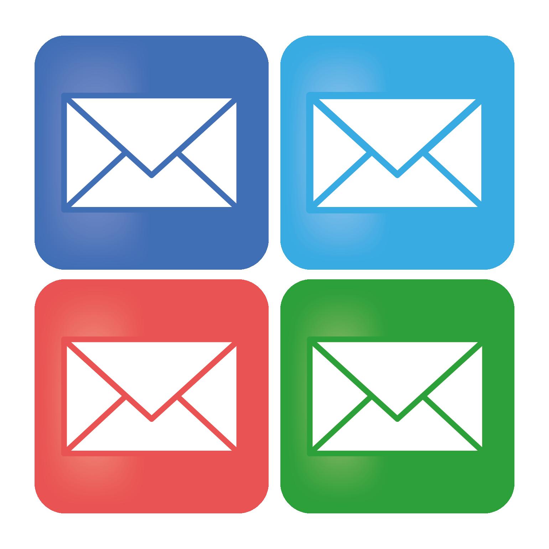 メールマークのアイコンデザイン イラスト | 商用フリー(無料)のイラスト