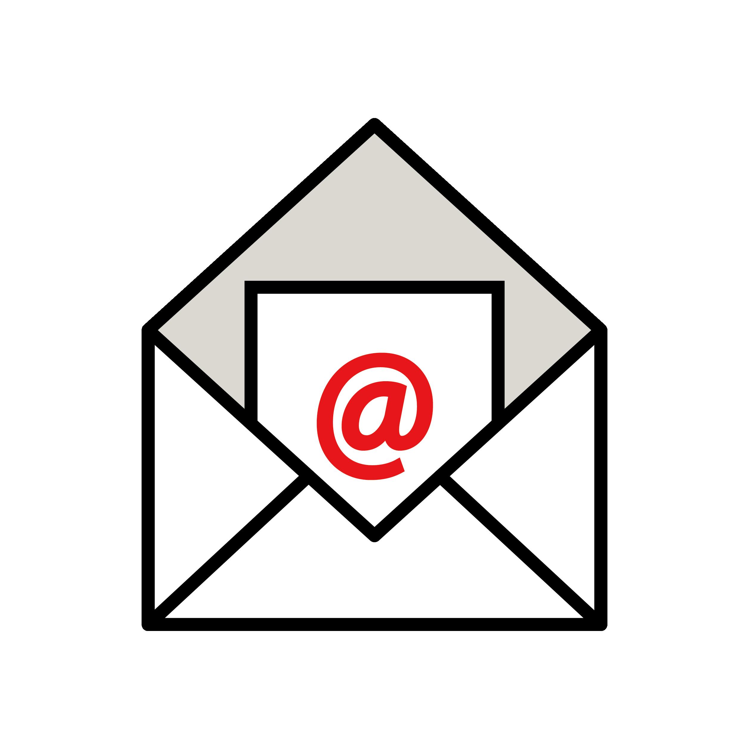 メール受信!you've got mailのイラスト | 商用フリー(無料)のイラスト